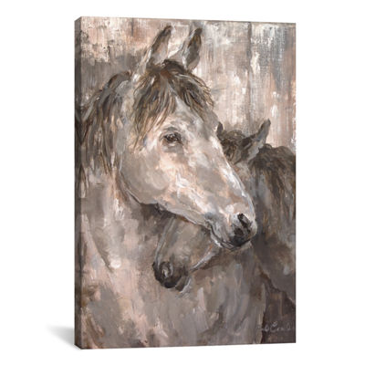 Tender Farmhouse Horse by Debi Coules Canvas Print
