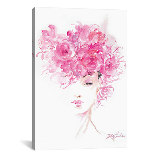Lady In Pink by Debi Coules Canvas Print