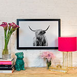 Portrait of a Highland Cow by Dorit Fuhg Black Framed Fine Art Paper Print