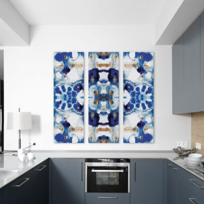 Symmetric Blue by Elisabeth Fredriksson Canvas Print