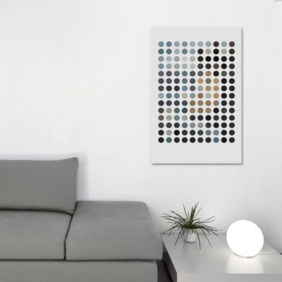 Modern Art - Earthy Dots by 5by5collective CanvasPrint
