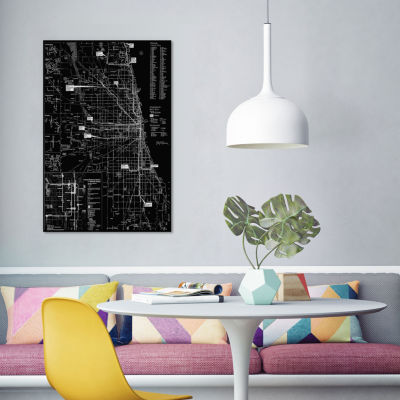 Modern Art - Chicago Transit Negative by 5by5collective Canvas Print