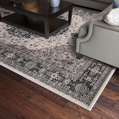 Concord Global Trading Kashan Collection Medallion Area Rug