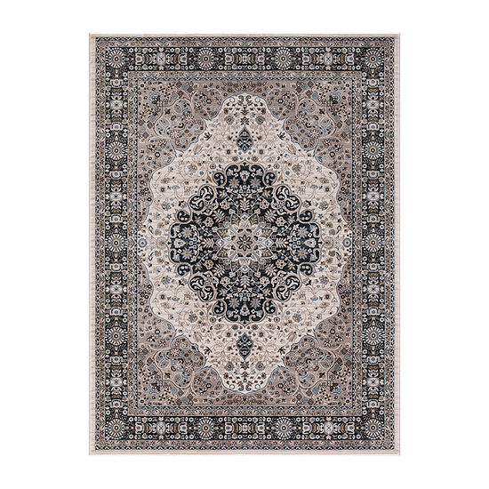Concord Global Trading Kashan Collection MedallionArea Rug