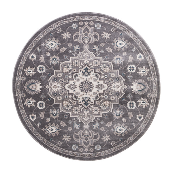 Concord Global Trading Lara Collection Center Medallion Round Area Rug