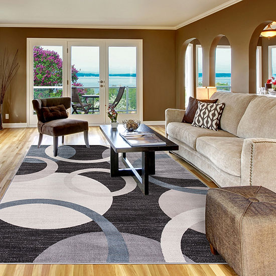 Concord Global Trading Lara Collection Circles Area Rug