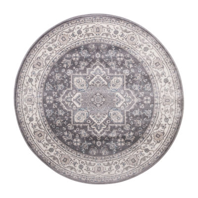 Concord Global Trading Lara Collection Heriz Round Area Rug