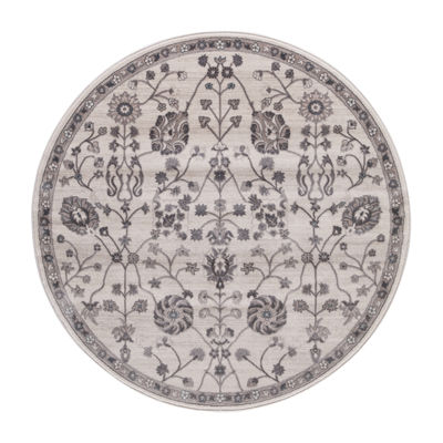 Concord Global Trading Lara Collection Open Vase Round Area Rug