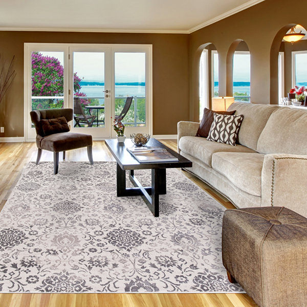 Concord Global Trading Lara Collection Soft Damask Area Rug