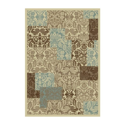 Concord Global Trading Chester Collection Patchwork Rectanular Rugs