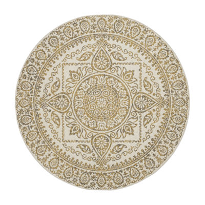 Concord Global Trading New Casa Collection Aubosson Round Area Rug