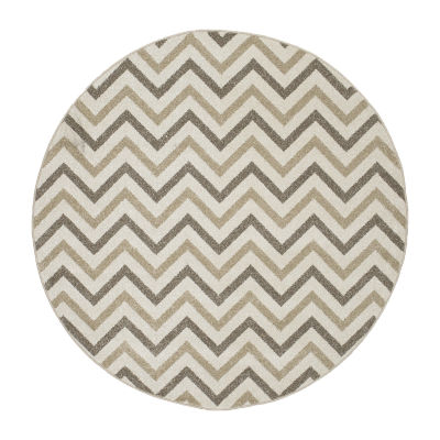 Concord Global Trading New Casa Collection ChevronRound Area Rug