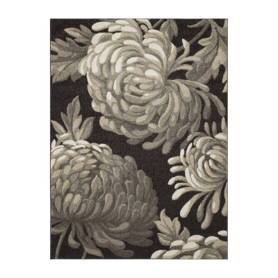 Concord Global Trading New Casa Collection FlowersArea Rug