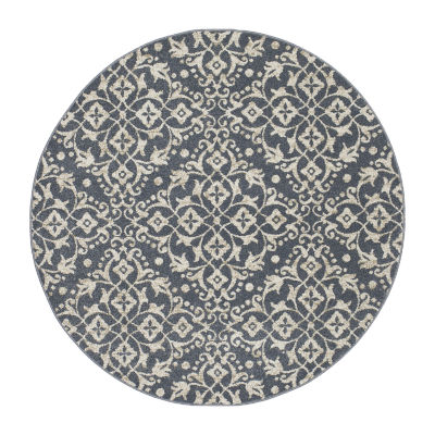 Concord Global Trading New Casa Collection Medallions Round Area Rug