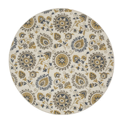 Concord Global Trading New Casa Collection SuzaniRound Area Rug