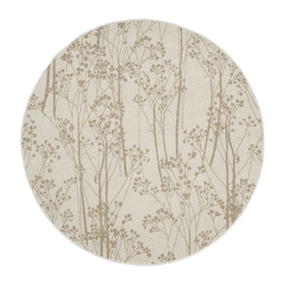 Concord Global Trading New Casa Collection Trees Round Area Rug