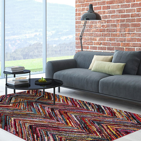 Concord Global Trading Diamond Collection ChevronMulti Area Rug