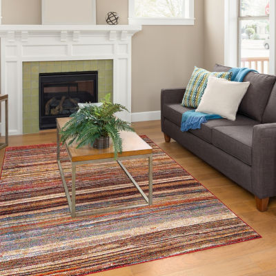 Concord Global Trading Diamond Collection Solstice Multi Area Rug