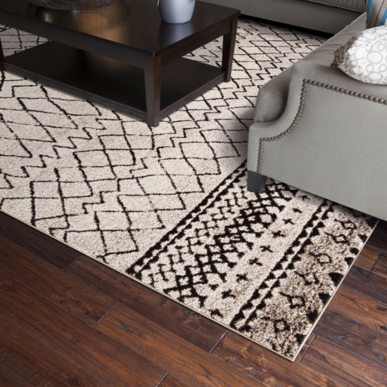 Concord Global Trading Diamond Collection VintageArea Rug