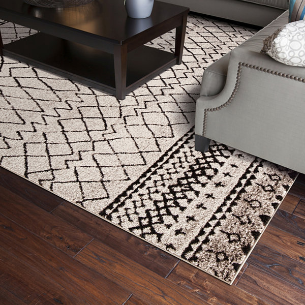 Concord Global Trading Diamond Collection Vintage Area Rug