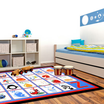 Concord Global Trading Fun Time Collection Alphabet Multi Area Rug