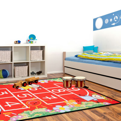 Concord Global Trading Fun Time Collection Hop Scotch Area Rug