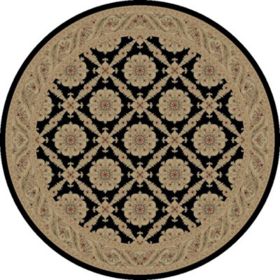 Concord Global Trading Imperial Collection Aubosson Round Area Rug