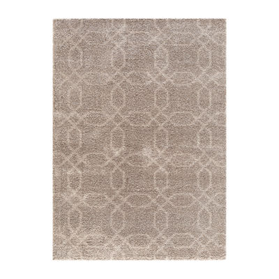 Concord Global Trading Plush Collection Geo Area Rug