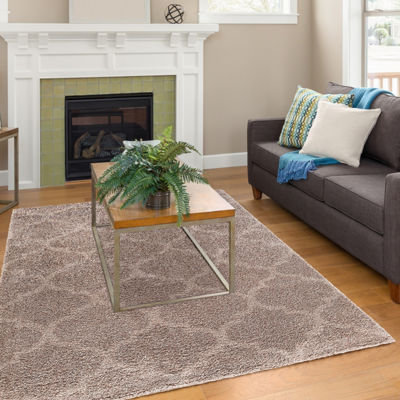 Concord Global Trading Plush Collection QuatrefoilArea Rug
