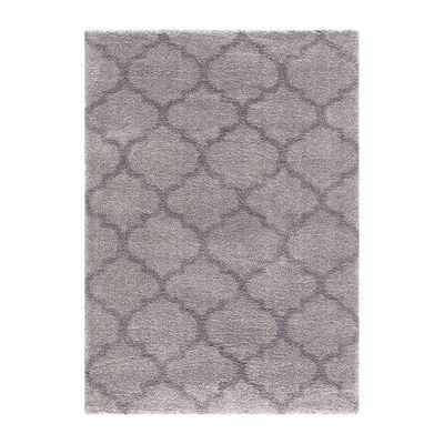 Concord Global Trading Plush Collection Quatrefoil Area Rug