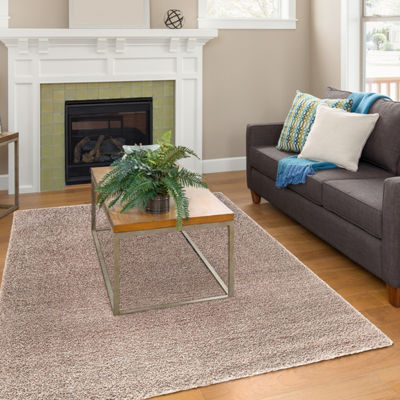 Concord Global Trading Plush Collection Solid Area Rug