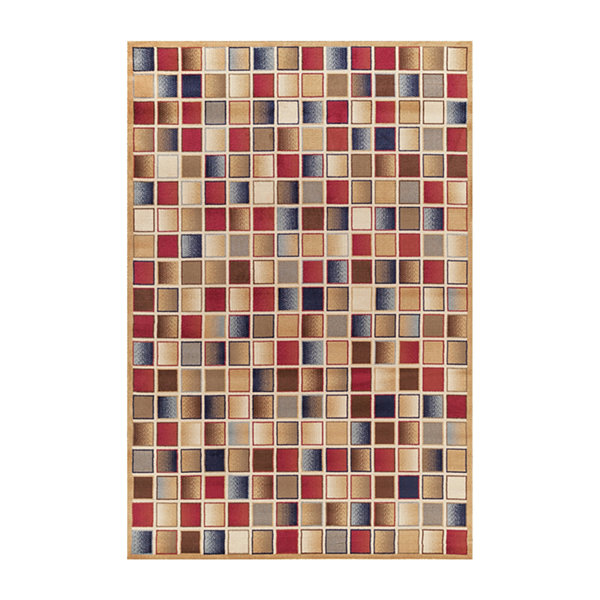 Concord Global Trading Jewel Collection CheckboardArea Rug