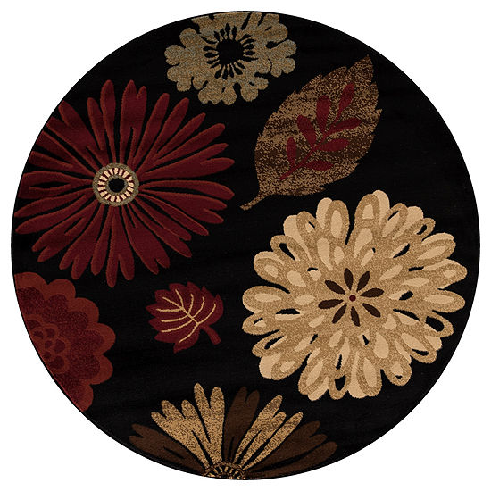 Concord Global Trading Jewel Collection Kaleidoscope Round Area Rug