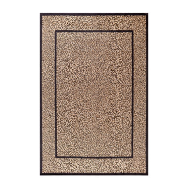 Concord Global Trading Jewel Collection Leopard Area Rug