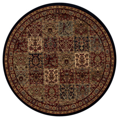 Concord Global Trading Jewel Collection Panel Round Area Rug