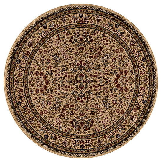 Concord Global Trading Jewel Collection Sarouk Round Area Rug