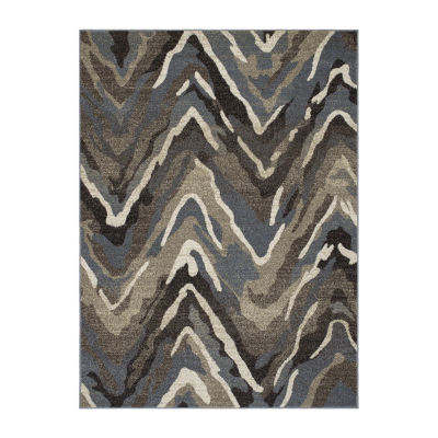 Concord Global Trading New Casa Collection Waves Area Rug