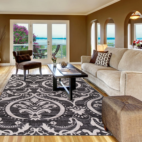 Concord Global Trading Lara Collection Large Damask Area Rug