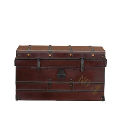 Household Essentials Metal Steamer Trunk 2 PC Set