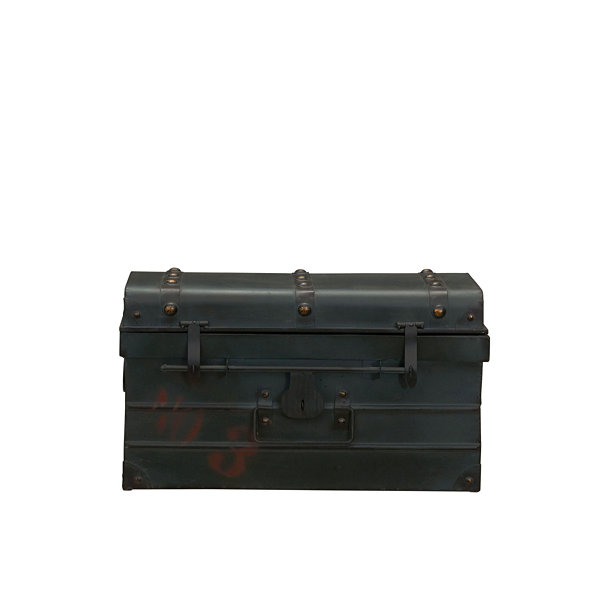 Household Essentials Small Metal Steamer Trunk