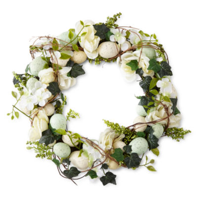 JCPenney Home Floral Egg Wreath