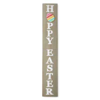 JCPenney Home Happy Easter Porch Sign Yard Art