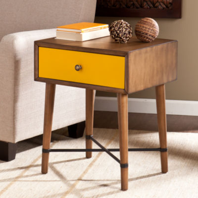 Modern Life Furniture  Yellow Accent Table