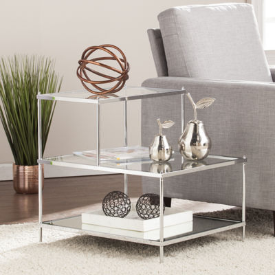 Reflections Décor Mirrored Accent Table - Chrome