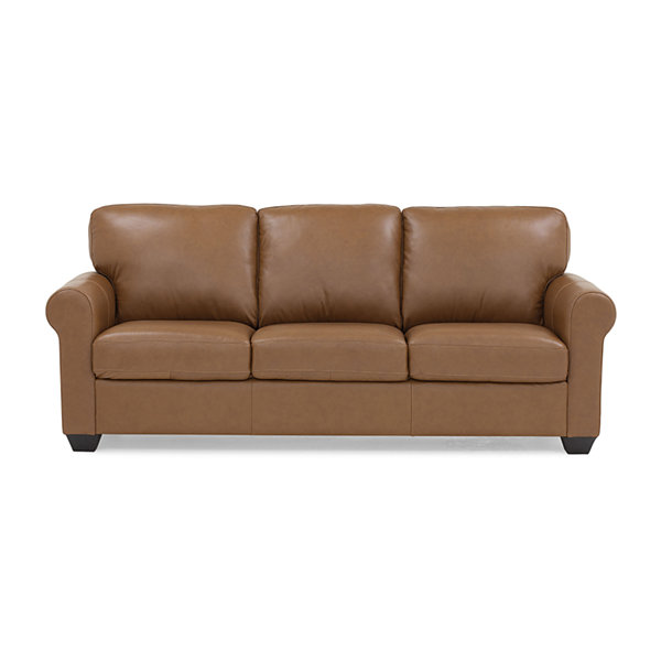 Leather Possibilities Quick Ship Roll-Arm Sofa