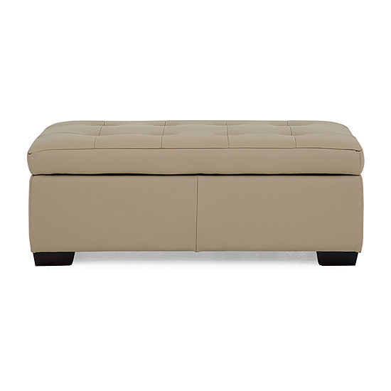 Leather Possibilities Quick Ship Ottoman