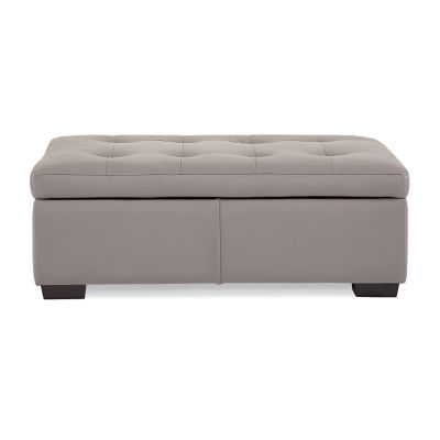 Leather Possibilities Quick Ship Metro Storage Ottoman