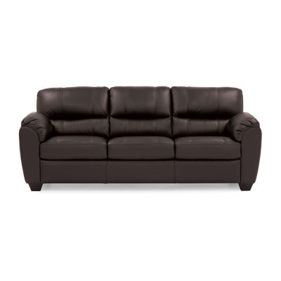 Leather Possibilities Quick Ship Metro Pad Arm Sofa