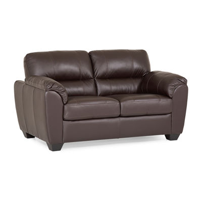 Leather Possibilities Quick Ship Metro Pad Arm Loveseat
