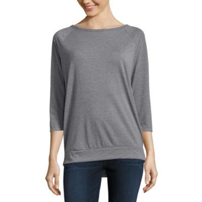 Xersion 3/4 Sleeve Round Neck T-Shirt-Womens
